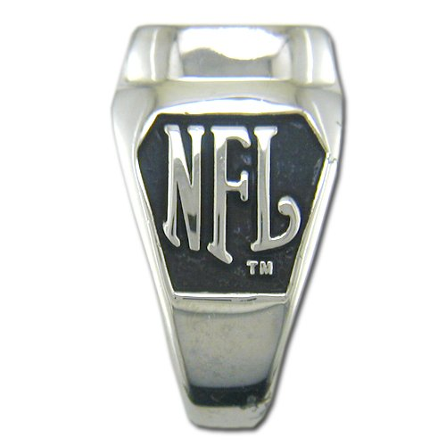 Dallas Cowboys Large Classic Ring, Size 10 1/2 Silverplated