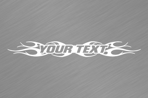 Tribal Flame Designs - Sticky Creations - Design #108 Your Custom Text Personalized Customized Lettering Tribal Flame Windshield Decal Sticker Vinyl Graphic Window Banner Car Truck SUV Boat   36
