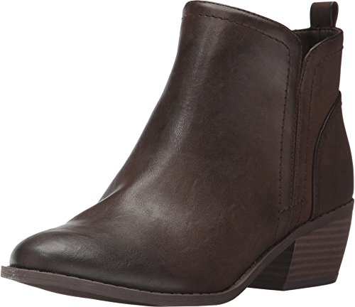 G By Guess Womens Tammie Leather Almond Toe Ankle Fashion, Espresso, Size 6.0