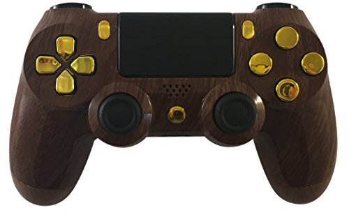 Hunter Woodgrain/Gold PS4 Modded Controller GM Master Mod Custom Rapid Fire, Drop Shot, Quickscope COD Black Ops 3, Infinite Warfare, MW Remastered, Battlefield 1, Destiny