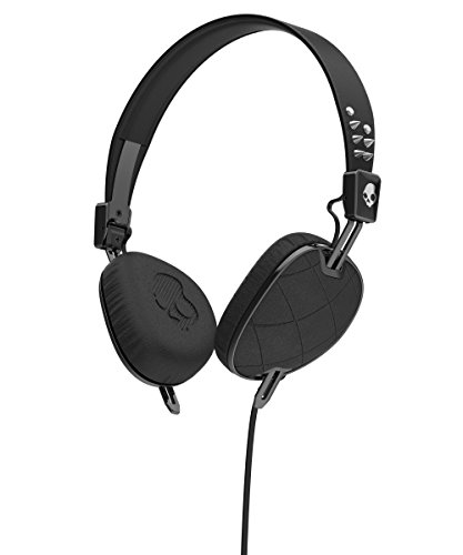 Skullcandy S5AVGM-400 Knockout Women's On-Ear Headphones with Mic & Remote, Geo Quilted Black/Chrome by Skullcandy
