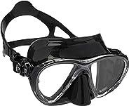 Cressi Scuba Diving Masks with Inclined Tear Drop Lenses for More Downward Visibility- Big Eyes Evolution: Mad