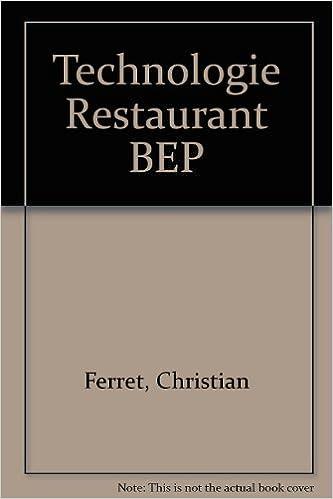 Technologie Restaurant BEP pdf, epub