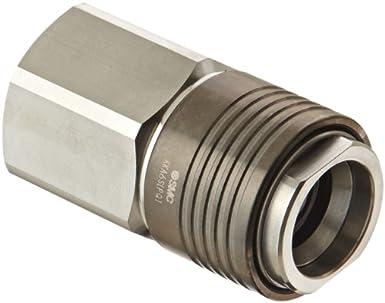 304 Stainless Steel Fitting BSPP Full Socket Adaptor BSP Parallel