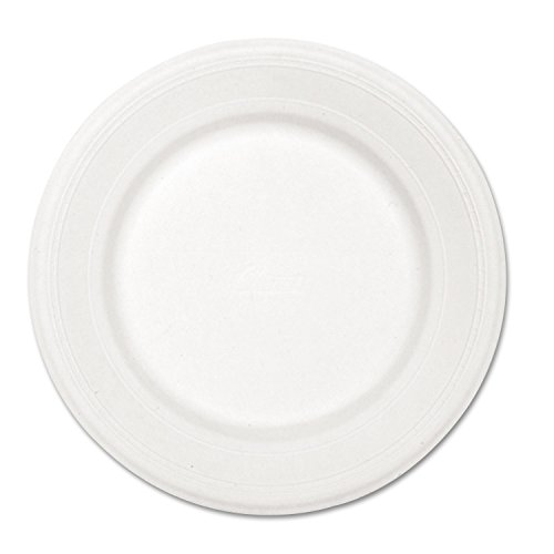 Chinet 21217 Classic White Molded Fiber Round Plate, 10-1/2