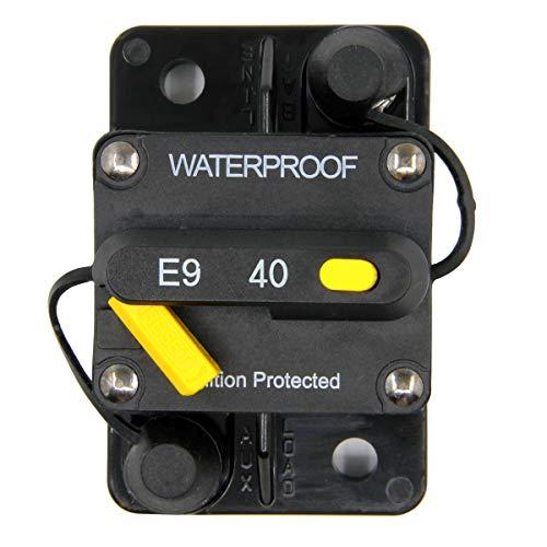 (RKURCK 12V-48VDC 40A Waterproof Circuit Breaker with Manual Reset for Marine Trolling Motors Boat ATV 40Amp)