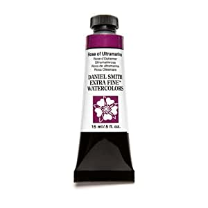 Daniel Smith Extra Fine Watercolor 15ml Paint Tube, Rose of Ultramarine, 15 ml