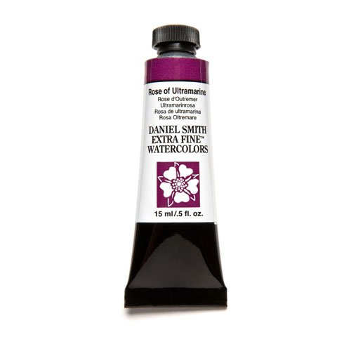 DANIEL SMITH Extra Fine Watercolor 15ml Paint Tube, Rose of Ultramarine