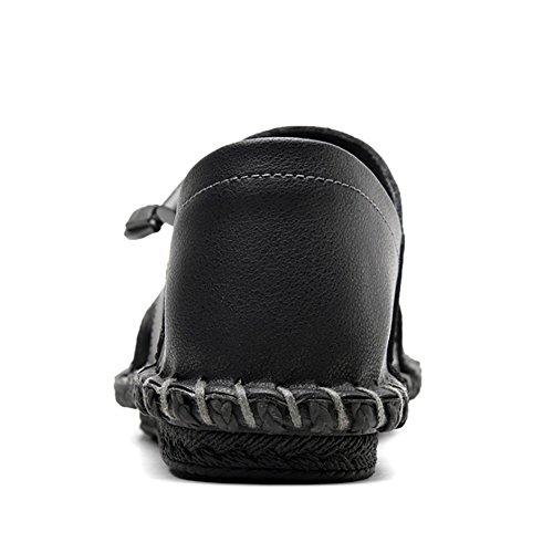 Black Scarpe Nuovo Da Scarpe Antiscivolo 40 Pedale Scarpe Di Uomo Spiaggia Scarpe Centinaia Traspirante Da Pigre Resistente Estate QSYUAN Comfort Libero Piselli Tempo All'usura E xTgqF1