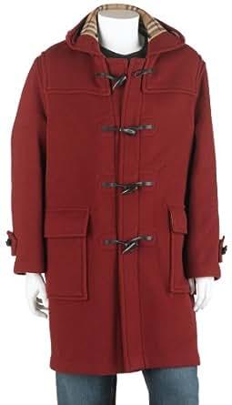 BURBERRY Men's Full Length Wool Duffle Coat with Hood