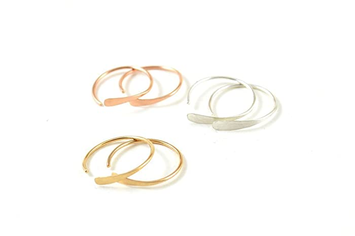 Amazon Com Sleeper Gold Hoop Earrings Small Hoop Earrings Wire