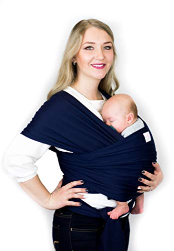 Baby Wrap Carrier Sling- by Cutie Carry Cutie for Newborn and Infant Navy Blue