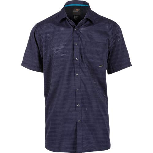 (5.11 Tactical Men's Aerial Short Sleeve Casual Button-Down Polo Shirt, Polyester, Style 71378)