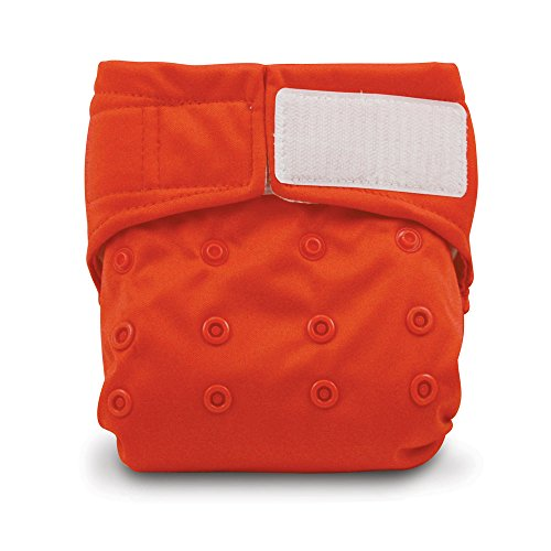 Bumkins Cloth Diaper Velcro All-in-One (AIO) or Pocket, 7-28lbs, Red (Bumkins Diaper Cover)