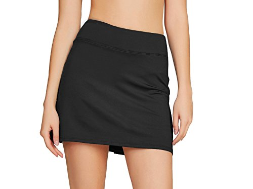 Cityoung Women's Casual Pleated Golf Skirt with Underneath Shorts Running Skorts s (Skort Fitness Skirts)