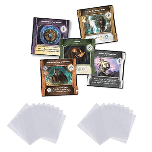 DeElf 500 ct Clear Card Sleeves 70 x 70 mm Size for Vindication - 500 Sleeves