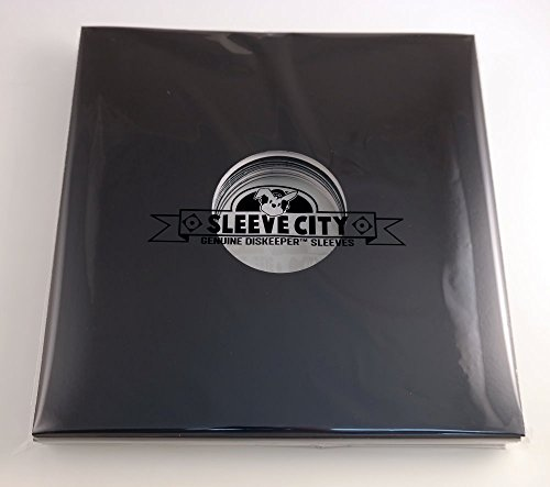 Black Die-Cut LP Jacket with Center Hole (Pack of 10)