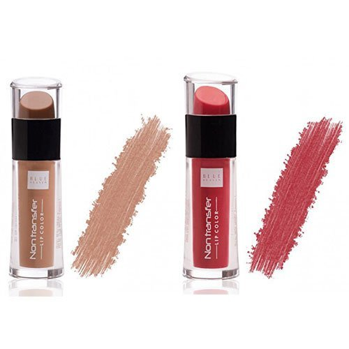 Blue Heaven Non Transfer Lip Color 2.8ml   Nude Lips 05/Raspberry Love 03  Set of 2