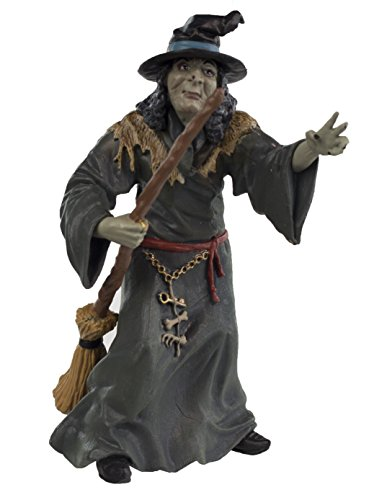Safari Ltd Days of Old Collection – Medea The Witch – Realistic Hand Painted Toy Figurine Model With Broom and Pointed Hat – Quality Construction From Safe and BPA Free Materials – For Ages 3 and (Day Statue)