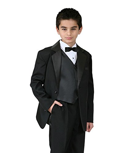 Black Boys Tuxedo 5-Piece Set for Size 10 (Tuxedo Piece Set Five)