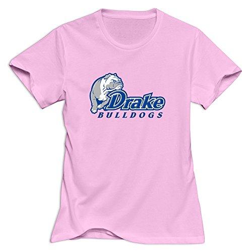 Drake University Womens T Shirt Size X-Small Pink