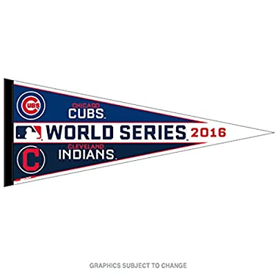 2016 MLB World Series Classic Dueling Pennant Chicago Cubs Vs Cleveland Indians
