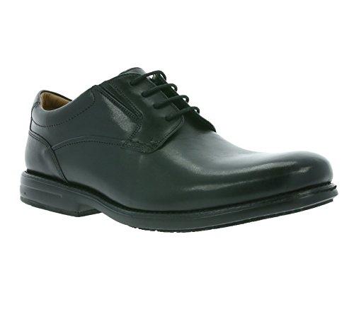 Walk uomo di Pelle Clarks vestito Scarpe Hopton nero qf1znwp