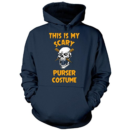 Purser Costume (This Is My Scary Purser Costume Halloween Gift - Hoodie Navy S)