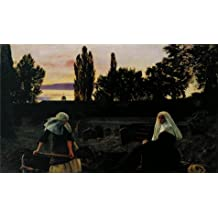 high quality polyster Canvas ,the Beautiful Art Decorative Prints on Canvas of oil painting 'John Everett Millais - The Vale of Rest,1858-1859', 24x41 inch / 61x103 cm is best for Home Office decor and Home decor and Gifts