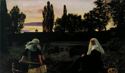 Oil Painting 'John Everett Millais - The Vale Of Rest,1858-1859' Printing On Perfect Effect Canvas , 16x27 Inch / 41x69 Cm ,the Best Home Office Artwork And Home Decor And Gifts Is This Cheap But High Quality Art Decorative Art Decorative Canvas - Eric Johnson Guitar Tab