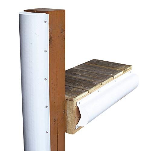 Dock Edge + Inc. PVC Piling Bumper (White, 6-Feet)