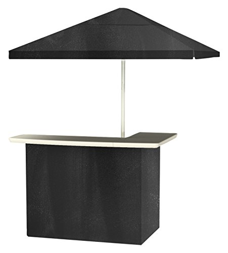 Photo Best of Times 2001W2411 Chalk Board Portable Bar and 8 ft Tall Square Umbrella, One Size, Black