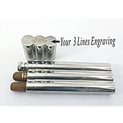 Set of 4 Bulk discount -Personalized Flask, Cigar Case ,Groomsmen Gift, Customized Groomsman Flasks, Cigar case Wedding Favors, Stainless Steel