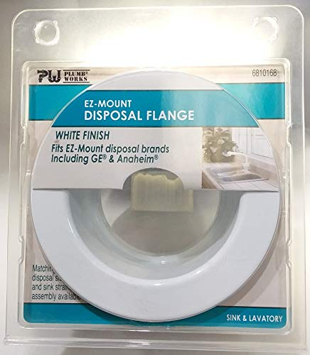 Disposer Flange White - Plumb Works Ez - Mount Disposal Flange White Finish