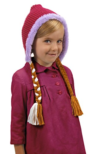 Disney Anna Costumes For Adults (Disney's Frozen Anna Hoodie Hat with Braids by elope)