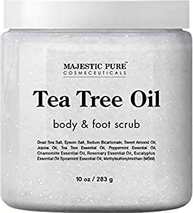 MAJESTIC PURE Tea Tree Body and Foot Scrub