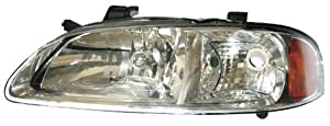 Vision Automotive NS10087B1L Nissan Sentra CA/GXE/XE Chrome Driver Side Replacement Headlight Assembly