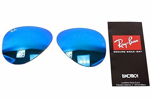 Ray Ban RB3025 3025 RayBan Sunglasses Replacement Lens Flash Blue Mirror - Ban Aviator Ray Glass Blue