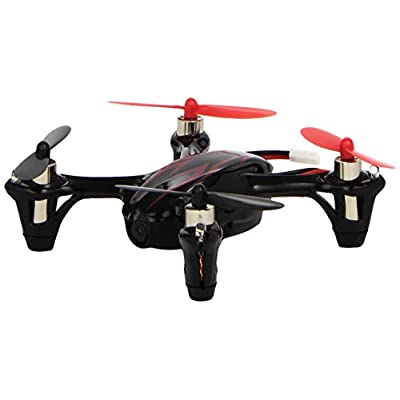 UPGRADED Hubsan X4 H107C with HD 2MP Camera 2.4Ghz 4CH 6 Axis Gyro RC Quadcopter Mode 2 RTF - Red/Black: Toys & Games