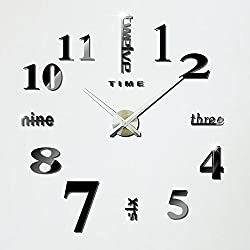 Hippih Modern 3D Frameless Large Wall Clock Style Watches Hours DIY Room Home Decorations Model MAX3 (02X)