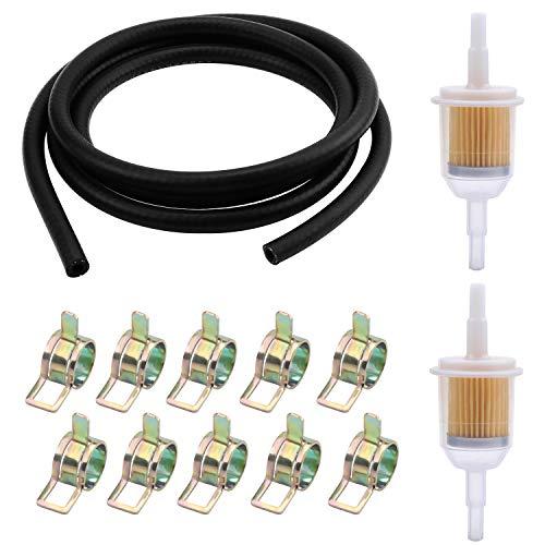 WiMas Benzineslang Kit, brandstofpijp, vacuümbuis, 2 meter brandstoflijn + 2 STKS 6 mm/8 mm benzinefilter + 10 STKS…