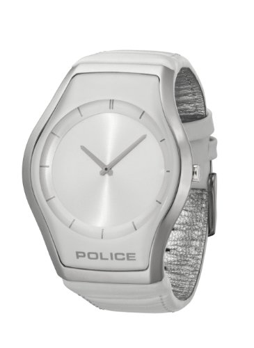 Police Women's PL-12096JS/04 Spere White Dial White Leather Watch