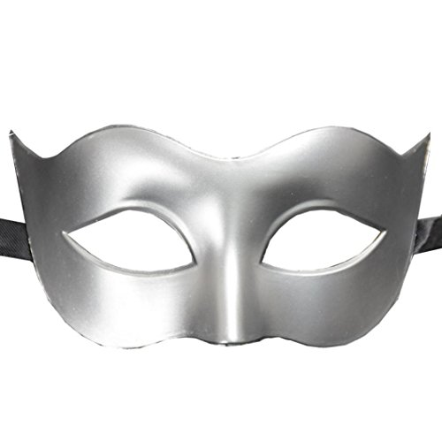 YJYdada Halloween Masquerade Mask Prom Party Mask accessories (Silver)]()