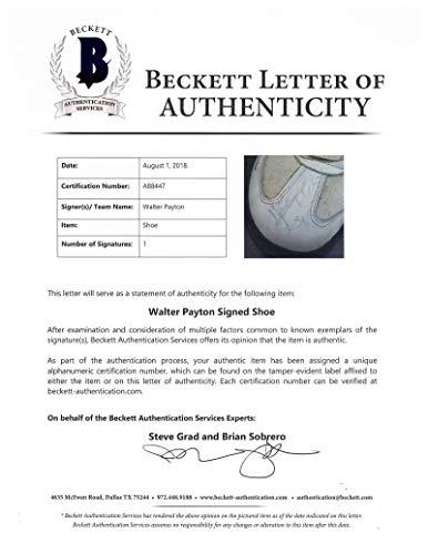 Walter Payton Signed Autographed Worn Kangaroos Turf Shoes Beckett BGS