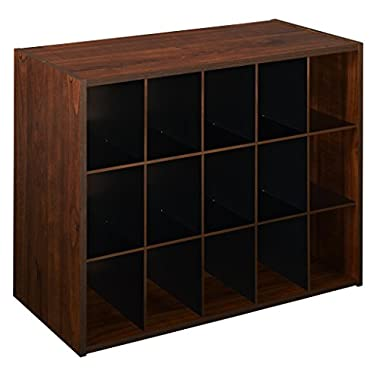 ClosetMaid 1302 Stackable 15-Cube Organizer, Dark Cherry