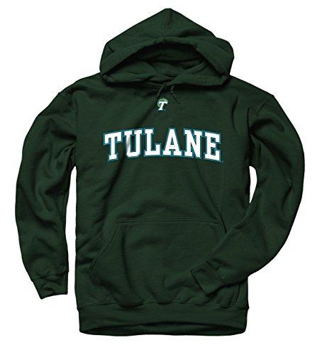 Tulane Waves Icon Arch Hooded Sweatshirt - Green ,