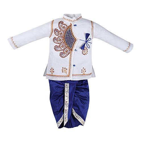 jivo Baby Boy's Cotton Silk Kurta Dhoti Set