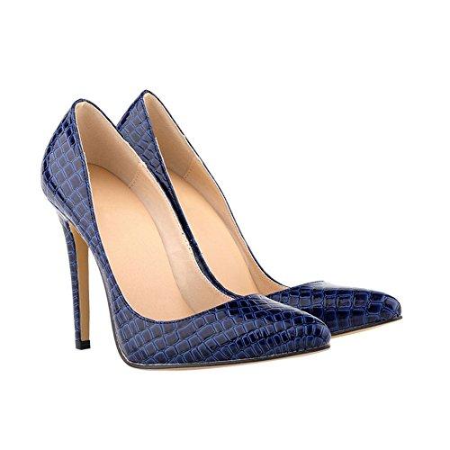 Haodasi Damen Krokodil-Korn-Muster 11CM High Heels Stilettos Schuhe F9TlT
