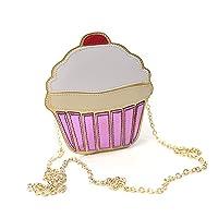 LUI SUI Delicioso Cupcake Design Mujer Bolso cruzado Attractiv Party Bolso de hombro pequeño Bolso exquisito Cupcake…
