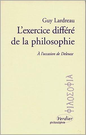 L Exercice Differe De La Philosophie A L Occasion De